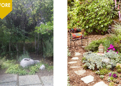 Our meditation garden creating a healing retreat for our client to rejuvenate on a daily basis.