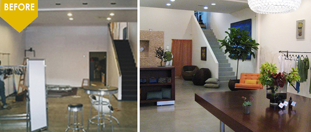 sustainable store interior design kim colwell design before & after