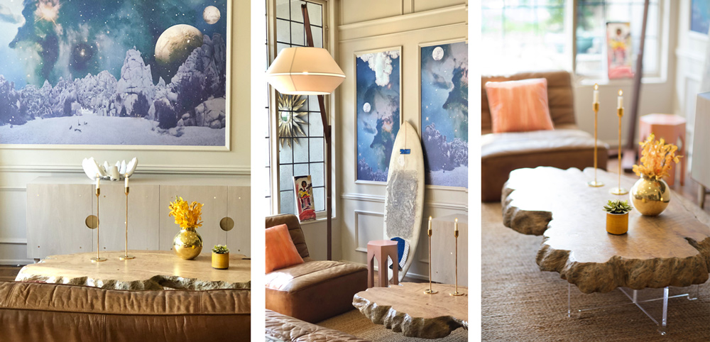 Interior Design | Custom Mural, Coffee Table & Credenza | Photos by Jay Goldman
