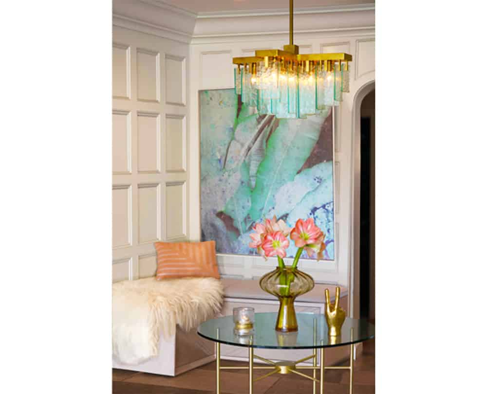 Interior Design | Custom Banquette & Art | Photo by Jay Goldman